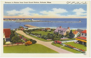 Entrance to harbor from Coast Guard Station, Scituate, Mass.