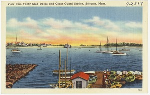 View from Yacht Club docks and Coast Guard Station, Scituate, Mass.