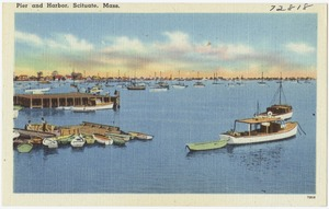 Pier and harbor, Scituate, Mass.