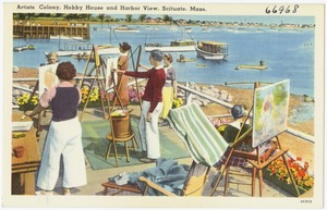 Artists Colony, Hobby House and harbor views, Scituate, Mass.