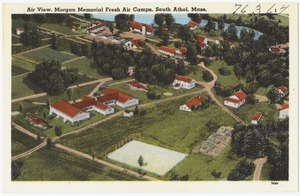 Air view, Morgan Memorial Fresh Air Camps, South Athol, Mass.