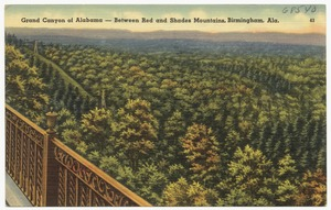 Grand Canyon of Alabama, between Red and Shades Mountains, Birmingham, Ala.