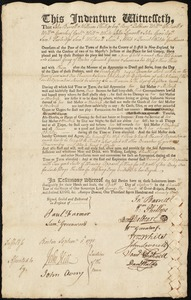 Document of indenture: Servant: Wilkinson, Ann. Master: Gray, Samuel. Town of Master: Boston