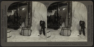 Packing salt in barrels, St. Clair, Mich.