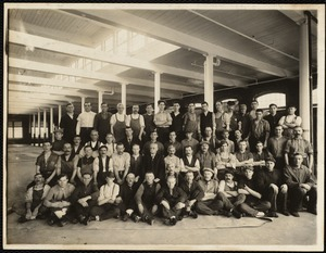Crabbing room group. George H. Spurr, overseer