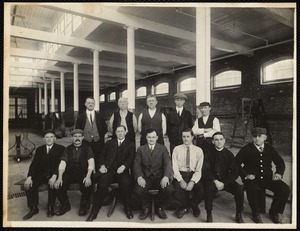 W. 7 mill, 2nd. floor. Group of foremen in dyehouse