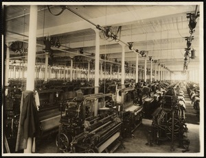W.9 weaving mill, ground floor. Looking easterly from south-west corner