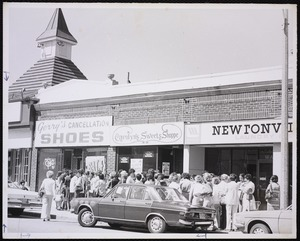 Business and shopping. Newton, MA. Gerry's Shoes, Newtonville