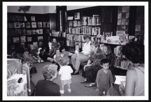 Newton Freel Library, Newton, MA. PR pictures. Toddler Story Hour, S. Abrams