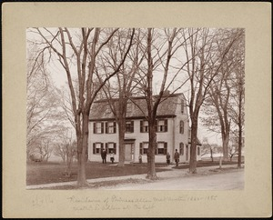 Villages of Newton, MA. West Newton. Residence of Phineas Allen, West Newton, 1860-1885. Nathaniel Allen at the left