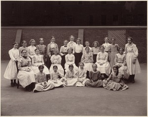 Hyde School, girls wearing dresses made by themselves
