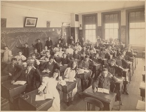 Interior view of second class of 1895 - Old Martin Elementary School
