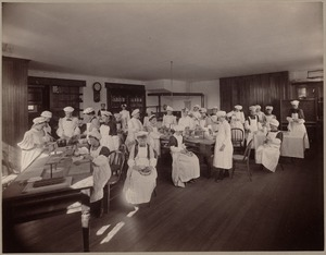 H. L. Pierce - home economics class - interior