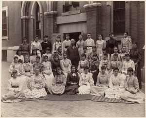 Class of Wells School, dresses made by themselves