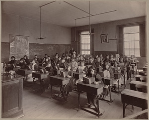 Grammar school, class V. div. II. Wells District.