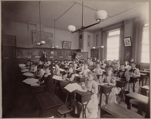 Grammar school, class V. Hancock District.