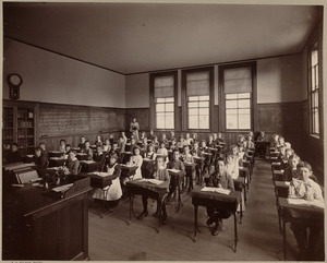 Grammar school, class V. Henry L. Pierce District.