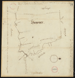Plan of Hanover, surveyor's name not given, dated 1794-5.
