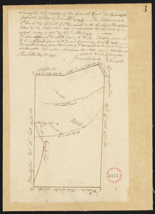 Plan of Plainfield District, surveyor's name not given, dated May 20, 1795.