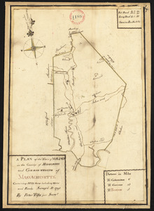 Plan of Malden made by Peter Tufts, Jr., dated 1795.
