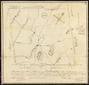 Plan of Hubbardston made by Daniel Walker, dated May 20, 1795.