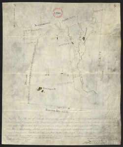 Plan of Uxbridge, made by Frederic Taft, dated May 25, 1795.