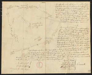 Plan of Northborough surveyed by Silas Keyes, dated February 23, 1795.