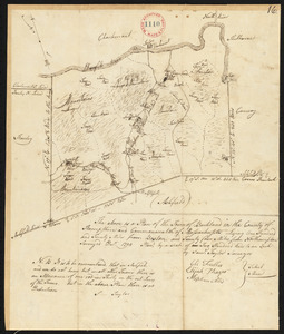 Plan of Buckland made by Samuel Taylor dated December, 1794.