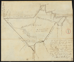 Plan of New Braintree, made by David Pratt, dated 1794.