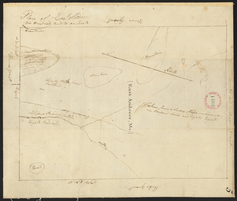 Plan of Andover (East Andover), surveyor's name not given, dated 1794-5.
