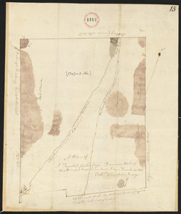 Plan of Oxford surveyed by Nathaniel Chamberlin dated December 23, 1795.