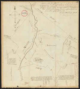 Plan of Billerica, made by Samuel Whiting, dated November, 1794.