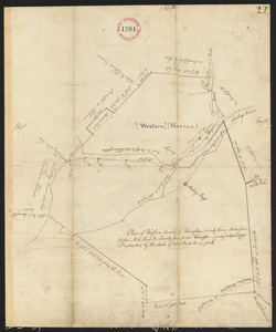 Plan of Warren (Western), surveyor's name not given, dated April 1795.