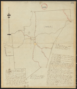 Plan of Athol, surveyor's name not given, dated April 27, 1795.