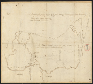 Plan of Dracut, surveyor's name not given, dated 1794.