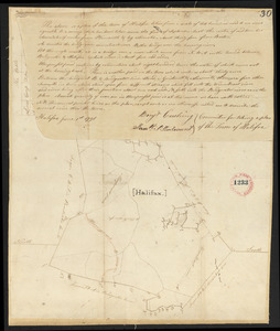 Plan of Halifax, surveyor's name not given, dated June 1, 1795.