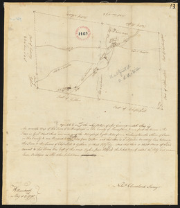 Plan of Williamsburg surveyed by Nehemiah Cleveland, dated May 5, 1795.