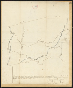 Plan of Ware, surveyor's name not given, dated April 1795.