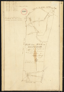 Plan of Bellingham made by Stephen Metcalf, dated December, 1794.