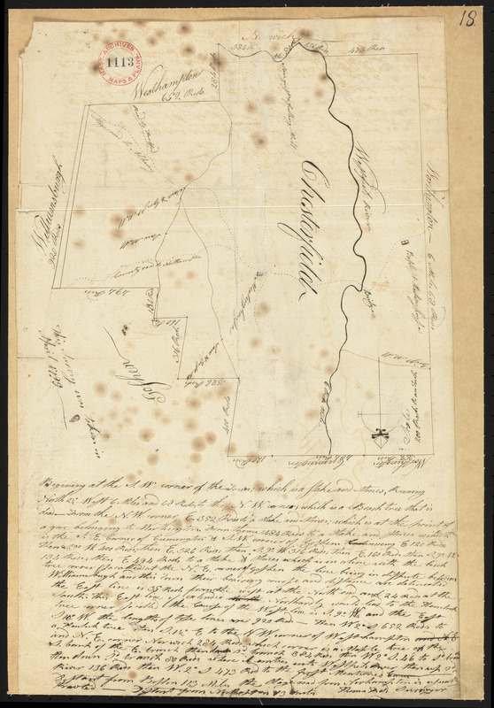 Plan of Chesterfield, surveyor's name not given, dated April, 1795.