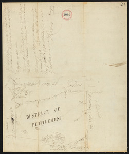 Plan of Bethlehem District (Otis) surveyed by Christopher Crary, dated April 8, 1795.