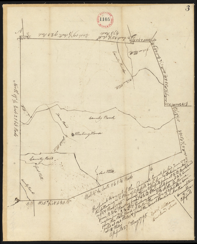 Plan of Ashfield, surveyor's name not given, dated May 27, 1795.