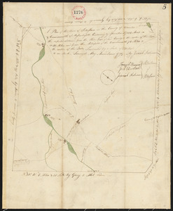 Plan of Petersham made by Jeremiah Robinson, dated May 1795.