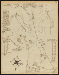 Plan of Boxford surveyor's name not given dated June 16, 1795.