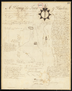 Plan of Paxton surveyed by Ephraim Carruth, dated May 23, 1795.
