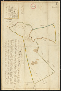 Plan of Cambridge, made by Samuel Thompson, dated April, 1795.