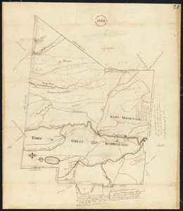 Plan of Great Barrington made by David Fairchild, dated November, 1794.