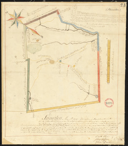 Plan of Princeton, surveyor's name not given, dated May 6, 1795.