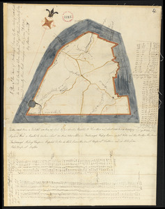 Plan of Foxborough surveyed by Aaron Everett, dated 1795.