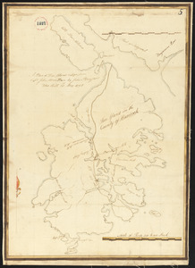 Plan of Deer Island (Isle au Haut), made by John Peters, Jr., dated May 21. 1795.
